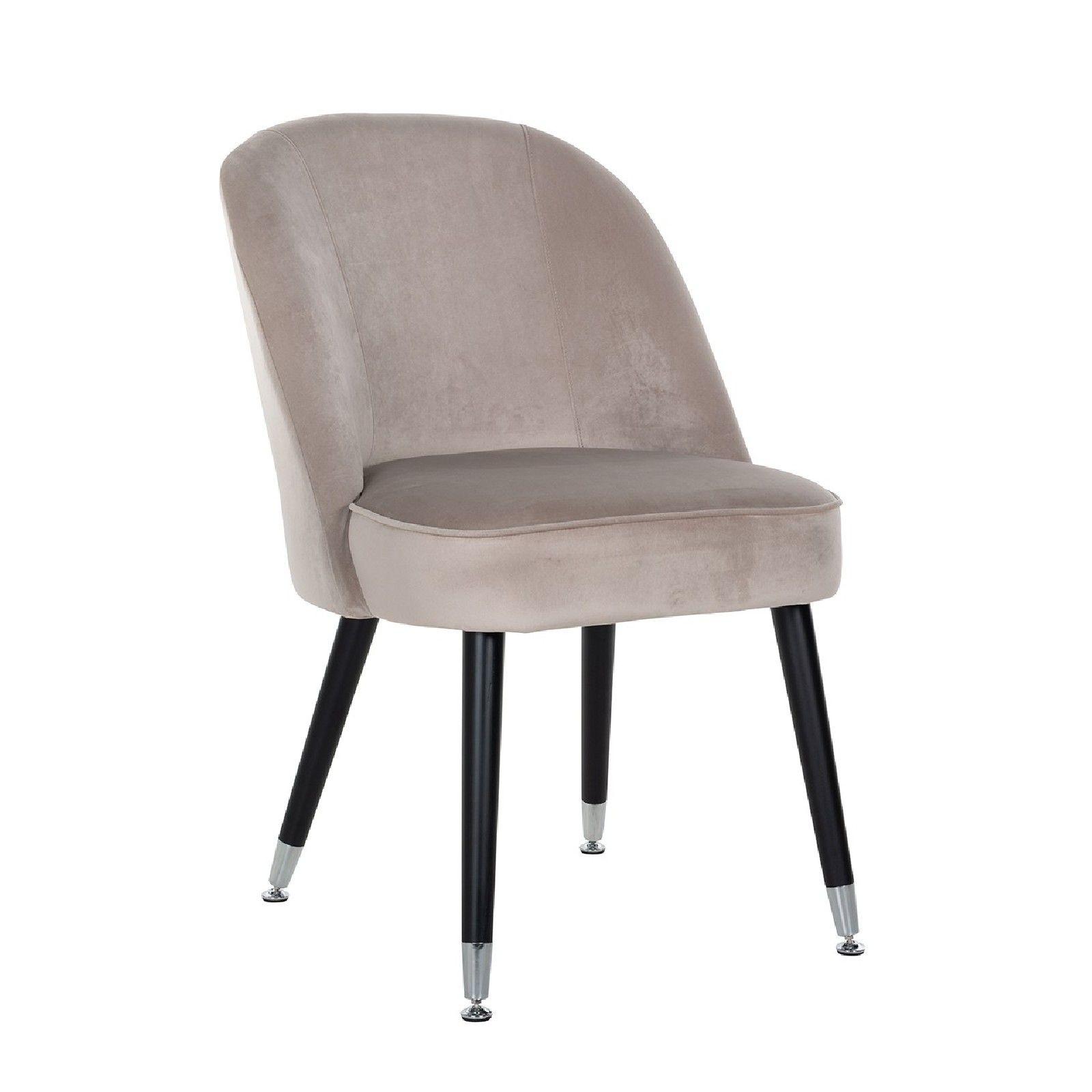 Chaise Julius Khaki Velvet, Silver footcap Salle à manger - 9