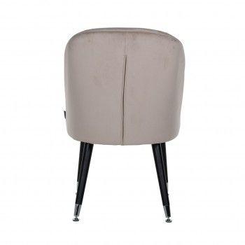 Chaise Julius Khaki Velvet, Silver footcap Salle à manger - 54