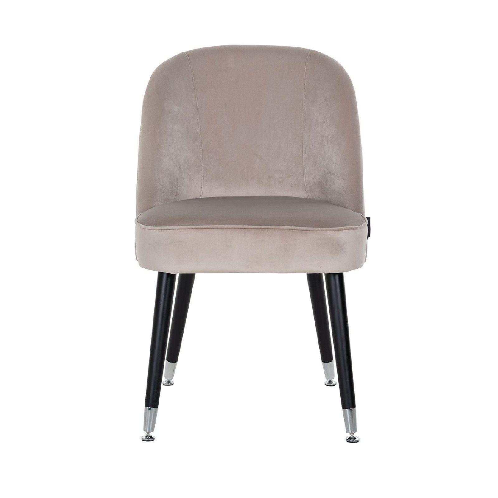 Chaise Julius Khaki Velvet, Silver footcap Salle à manger - 58