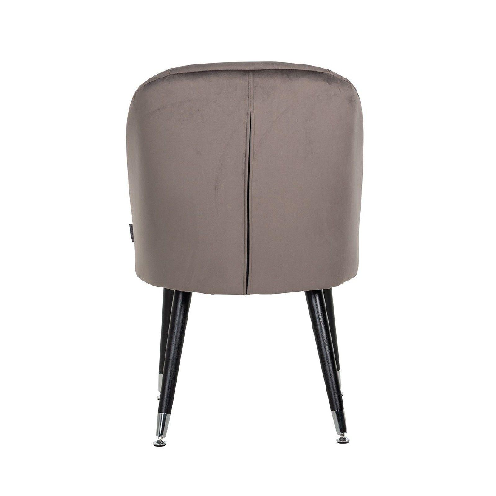 Chaise Julius Stone Velvet, Silver footcap Salle à manger - 51