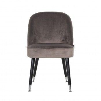 Chaise Julius Stone Velvet, Silver footcap Salle à manger - 73