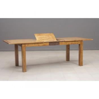 Table de repas rectangulaire ethnique chic Maya en acacia massif 180cm