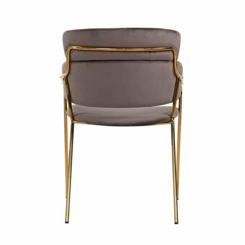 Chaise Angelica Stone velvet / gold frame Fire Retardant Salle à manger - 211