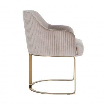 Chaise Hadley Khaki velvet / Brushed gold Salle à manger - 2