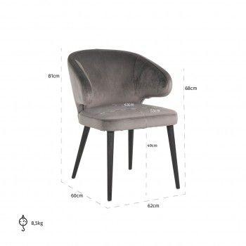 Chaise Indigo Stone velvet Salle à manger - 370