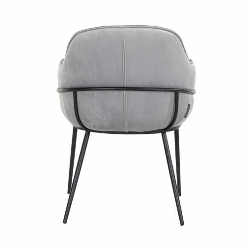 Chaise Nomi Steel velvet Salle à manger - 265