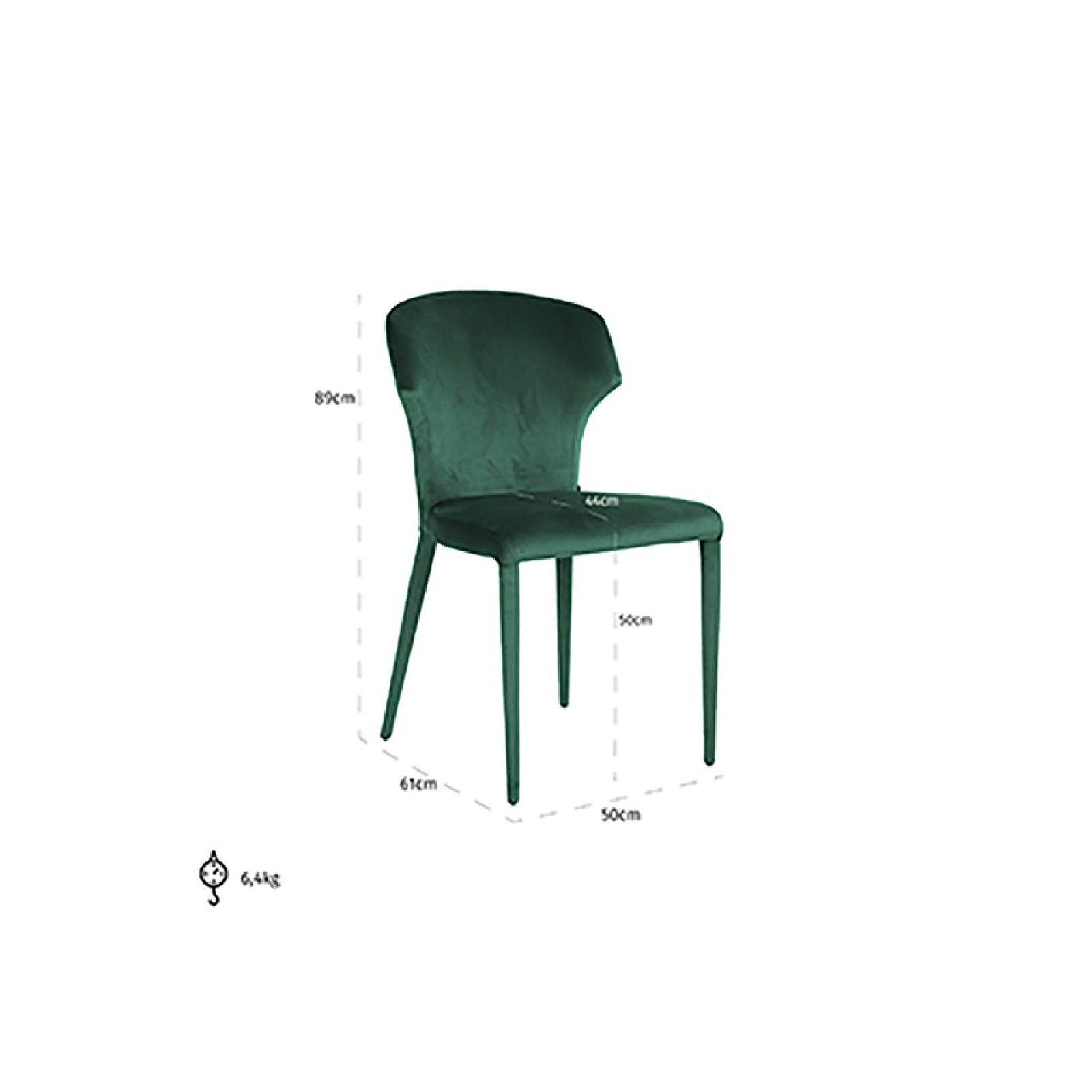 Chaise Piper Green Velvet Salle à manger - 345