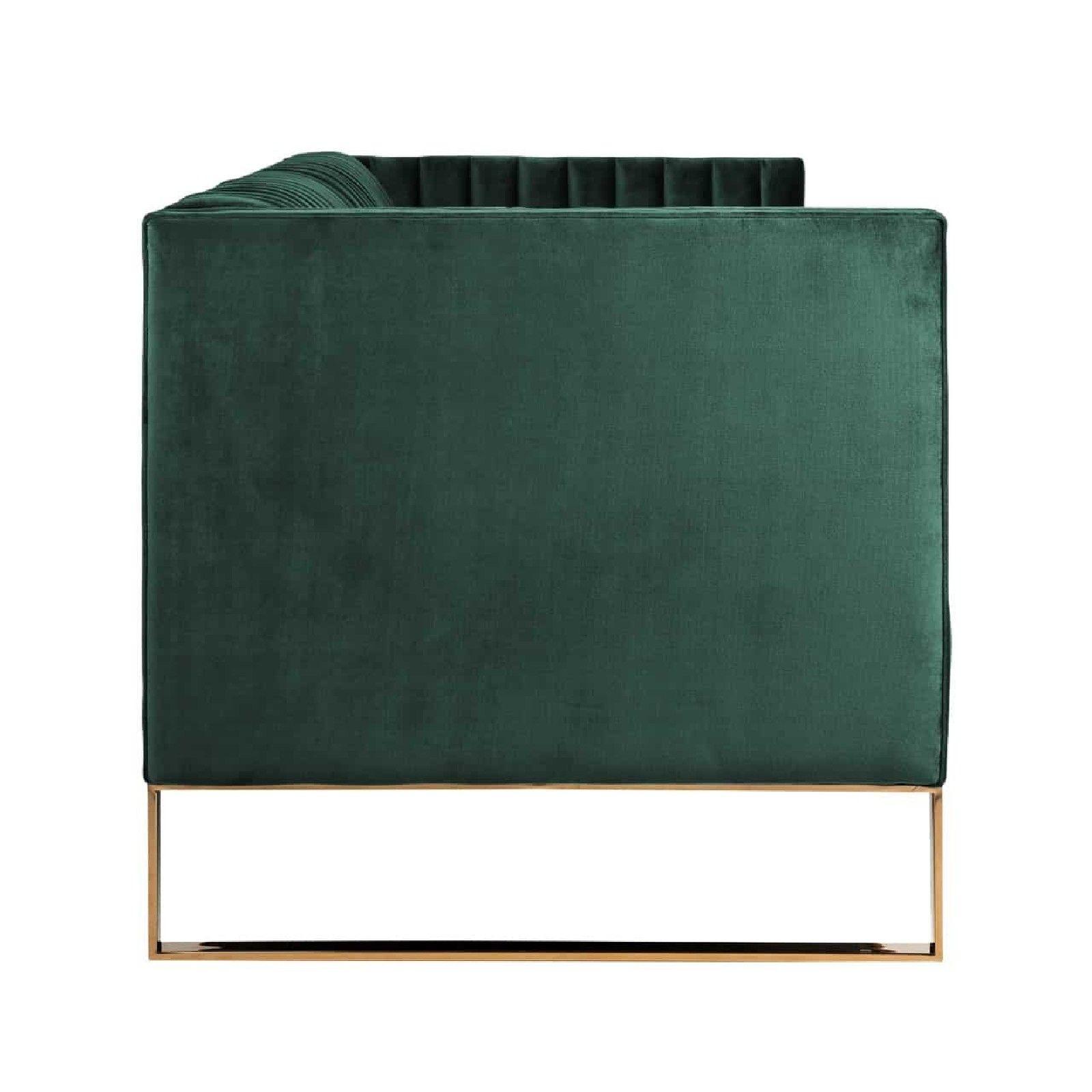 Canapé Contessa 3-places Green Velvet / gold Meuble Déco Tendance - 157
