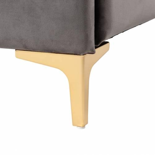Lit double Belmond 120x200 hors matelasLe lit est disponible avec des pieds dorés  ou argentés Meuble Déco Tendance - 196
