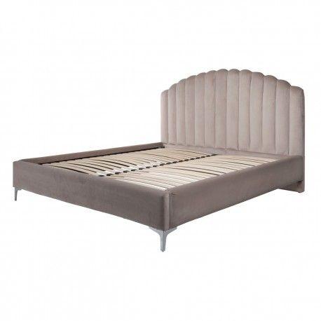 Lit double Belmond 180x200 hors matelasle lit est disponible avec des pieds dorés et argentés