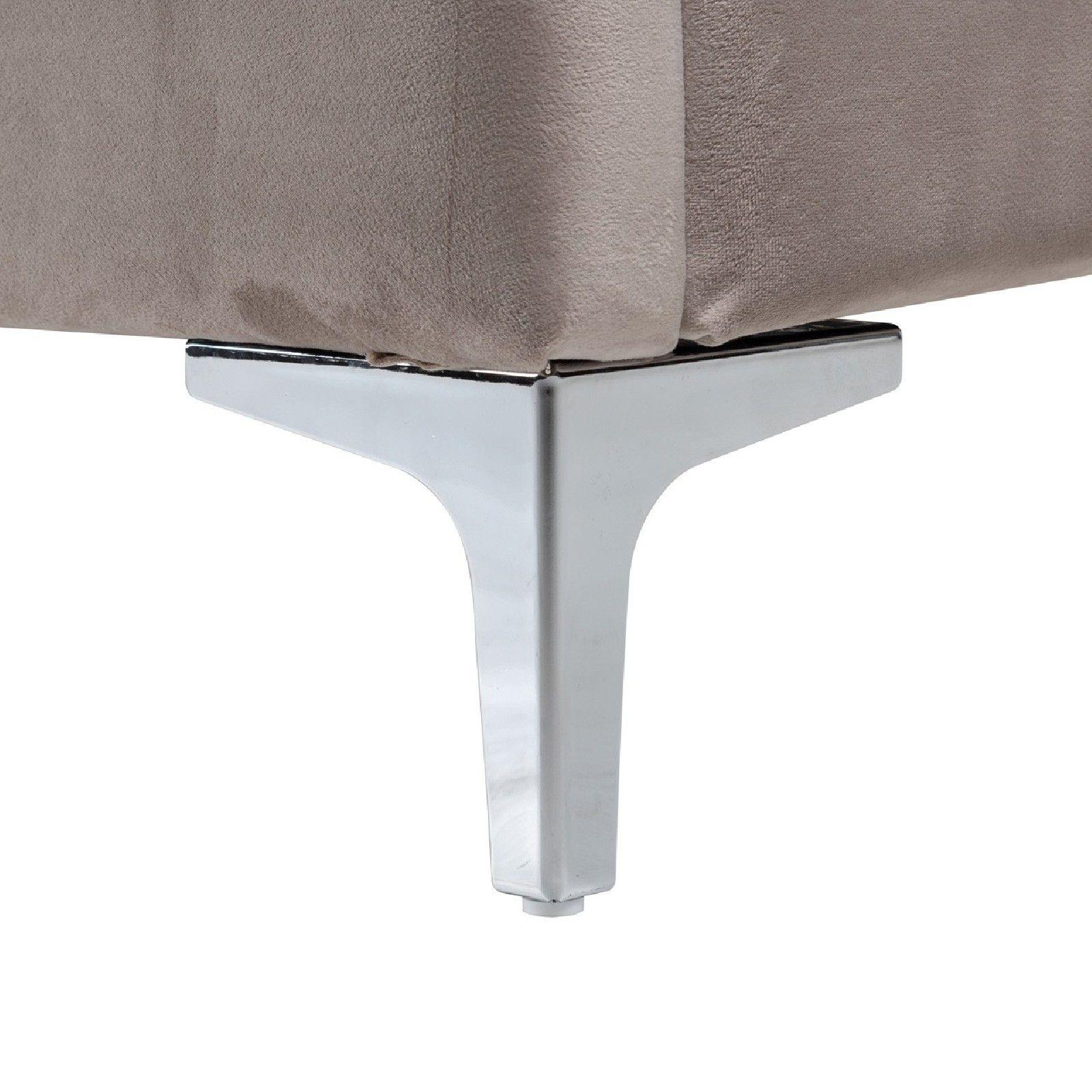 Lit double Belmond 180x200 hors matelasle lit est disponible avec des pieds dorés et argentés Meuble Déco Tendance - 239