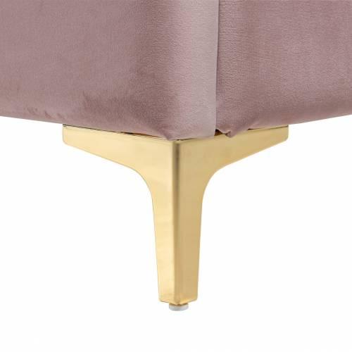 Lit double Belmond 180x200 hors matelasLe lit est disponible avec des pieds dorés ou argentés Meuble Déco Tendance - 195