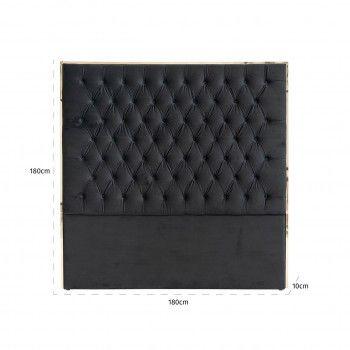 Tête de lit Lowell 180x180 Black velvet / dorée Meuble Déco Tendance - 180