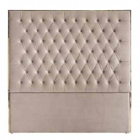 Tête de lit Lowell 180x180 Khaki velvet / dorée