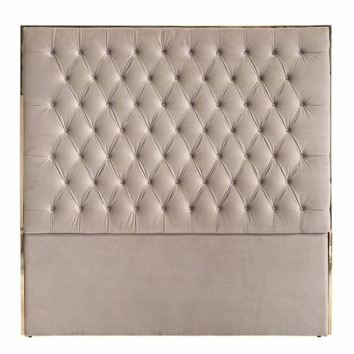 Tête de lit Lowell 180x180 Khaki velvet / dorée Meuble Déco Tendance - 29