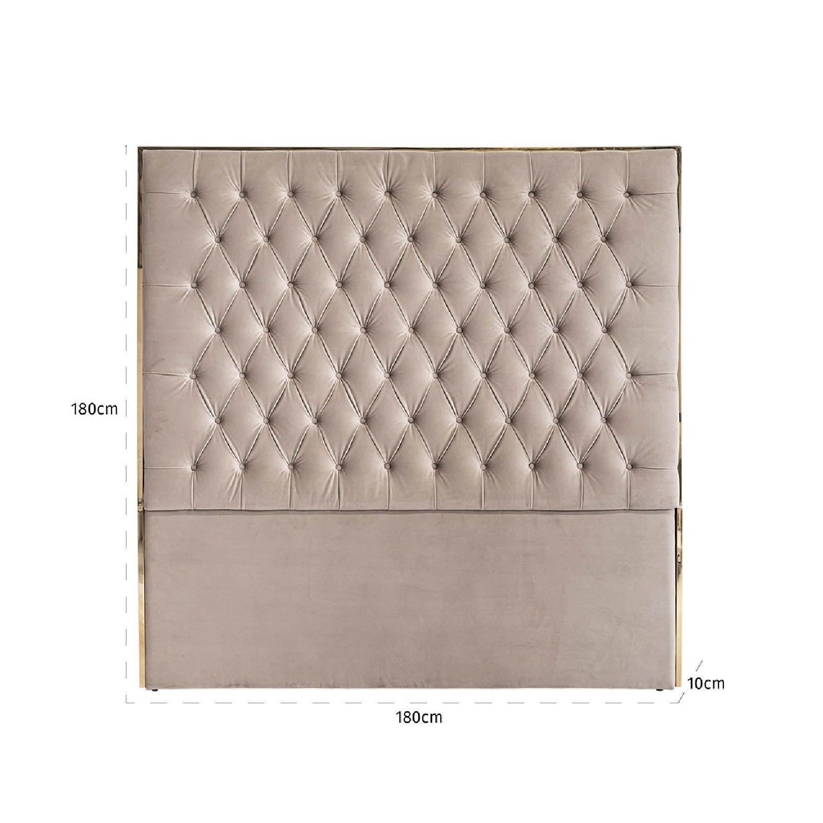 Tête de lit Lowell 180x180 Khaki velvet / dorée Meuble Déco Tendance - 111
