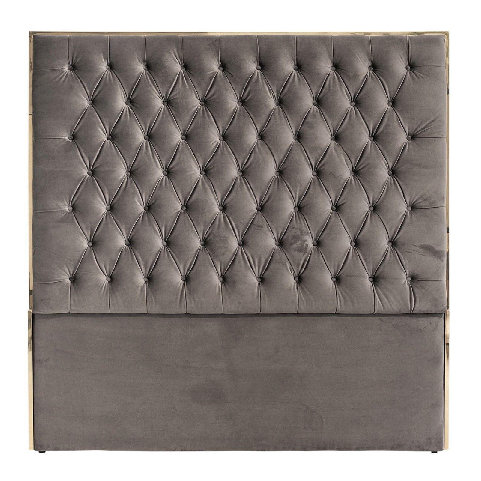 Tête de lit Lowell 180x180 Stone Velvet / argentée Meuble Déco Tendance - 59