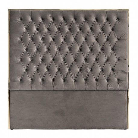 Tête de lit Lowell 180x180 Stone Velvet / argentée