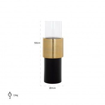 Hurricane Osmin black/gold small Bougeoirs et photophores - 113