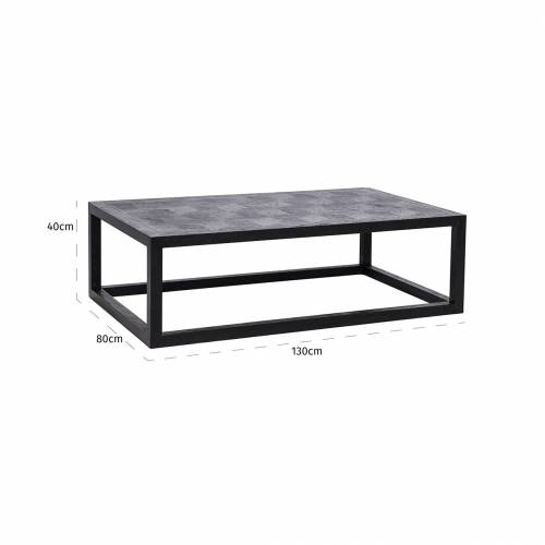Table de salon Blax 130x80 Tables basses rectangulaires - 8