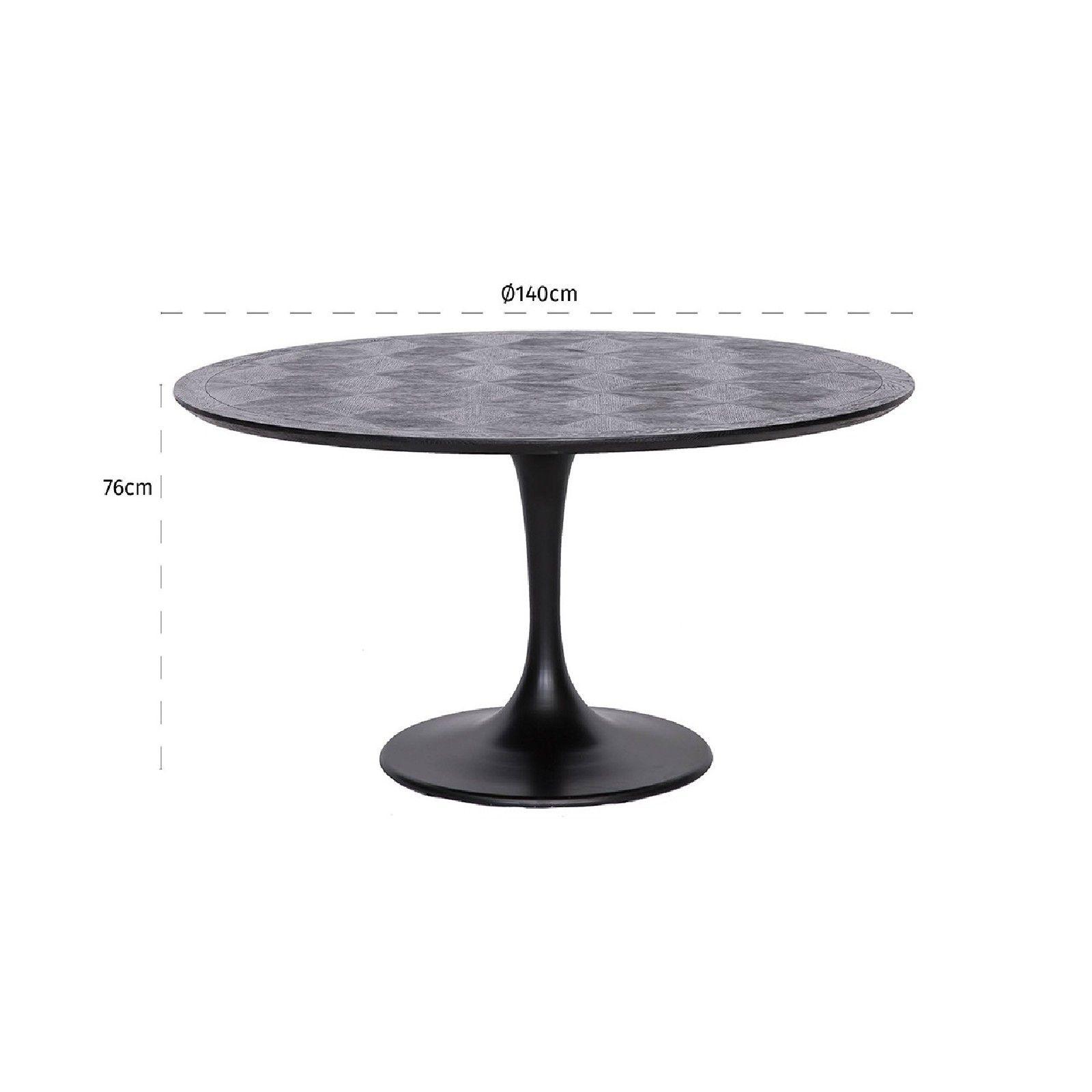 Table à dîner Blax ronde Ø140 Meuble Déco Tendance - 157