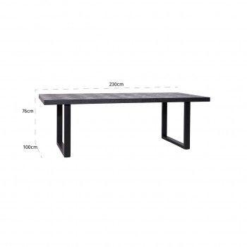 Table à dîner Blax 230x100 Meuble Déco Tendance - 166