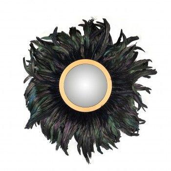 Miroir Madlen avec ces plumes Miroirs décoratifs - 45