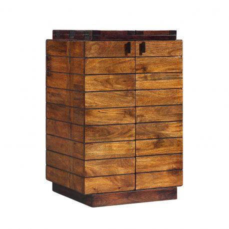 Meuble bar pliant bois bicolore | Manguier Herods