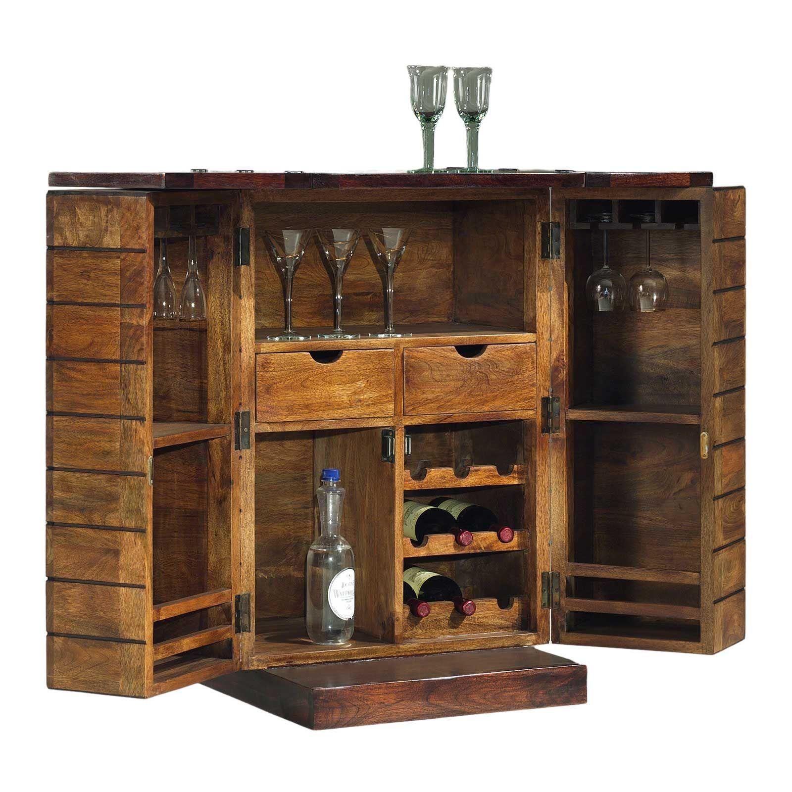 Bar extensible en bois exotique de qualité