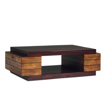 Table basse bois massif bicolore