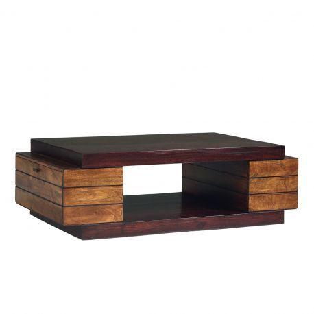 Table basse rectangulaire bois bicolore | Manguier Herods