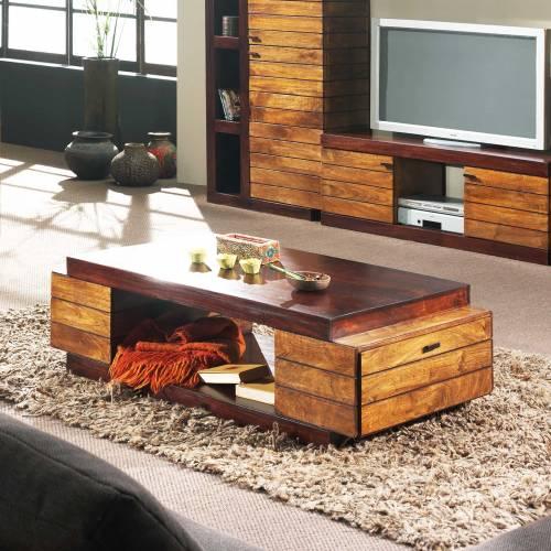 Table basse rectangulaire bois de qualité