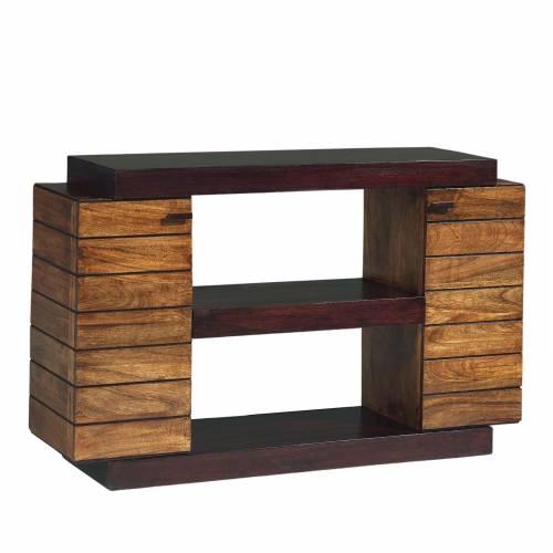 Console bois exotique bicolore