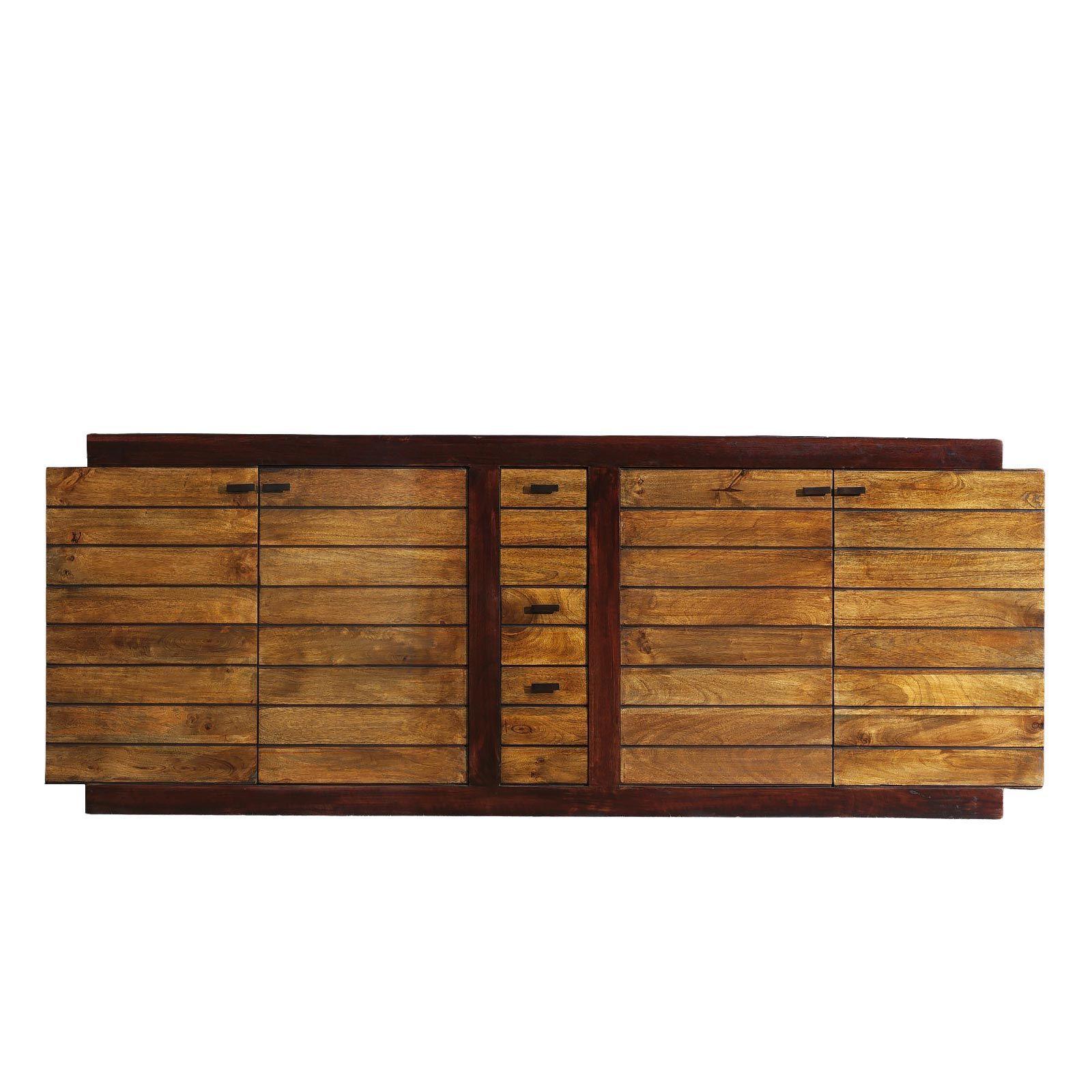 Buffet bicolore bois exotique
