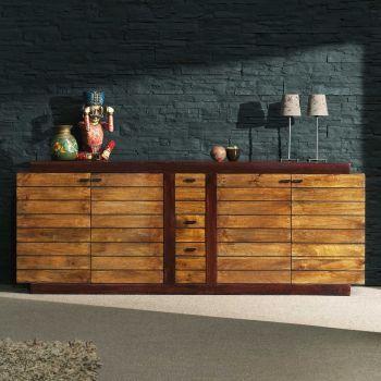 Buffet bois massif bicolore de qualité