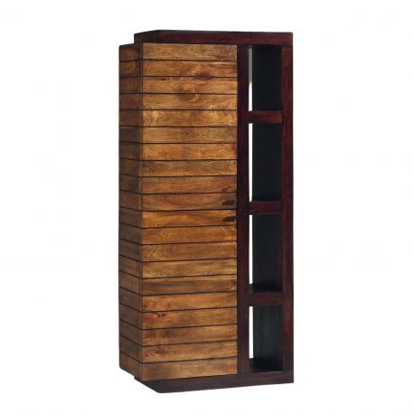 Colonne bibliothèque bois bicolore - Charnière gauche   Manguier Herods