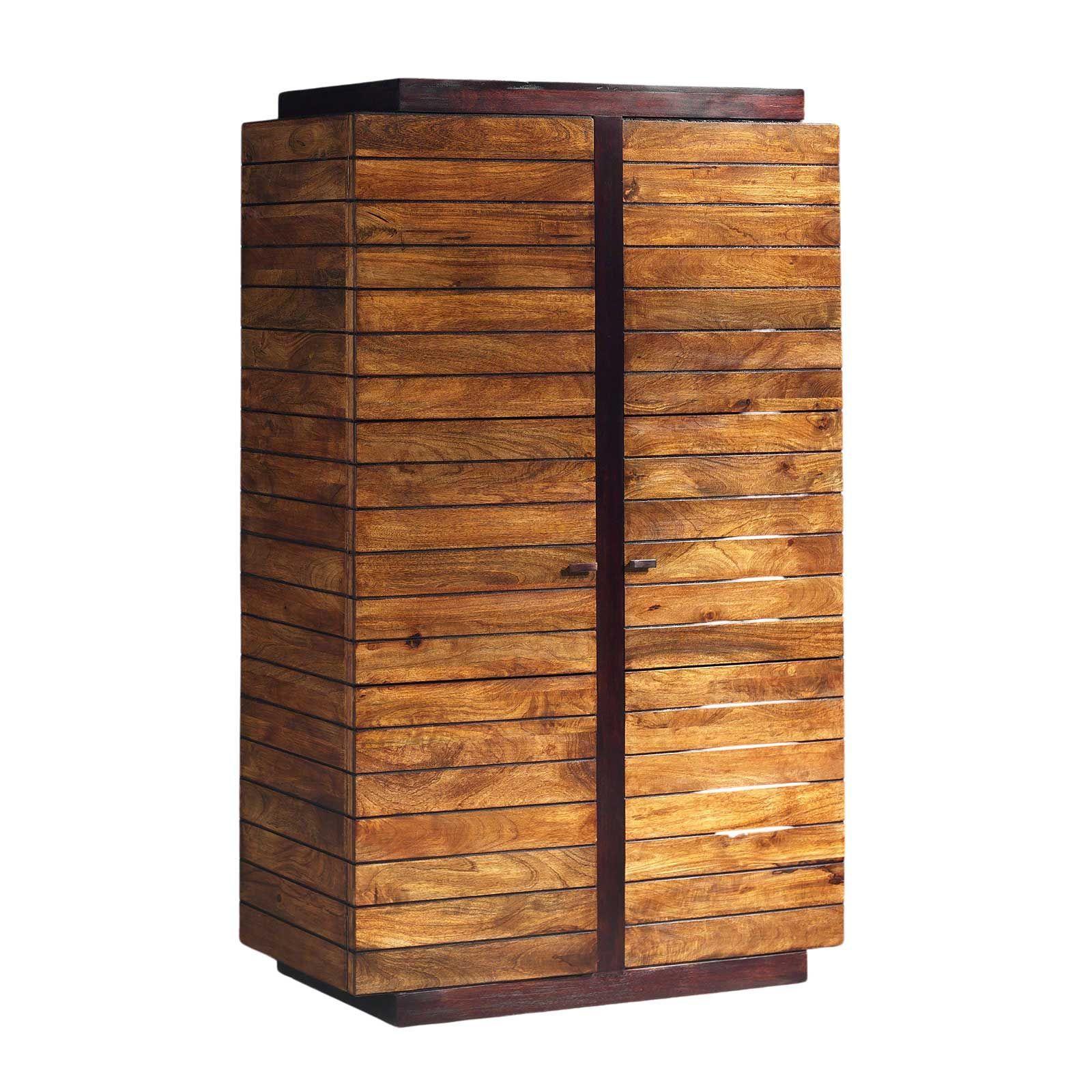 Armoire penderie en bois exotique