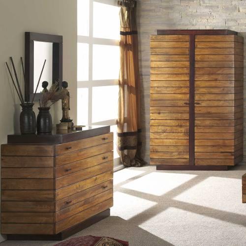 Armoire bois et-chiffons déco et tendance