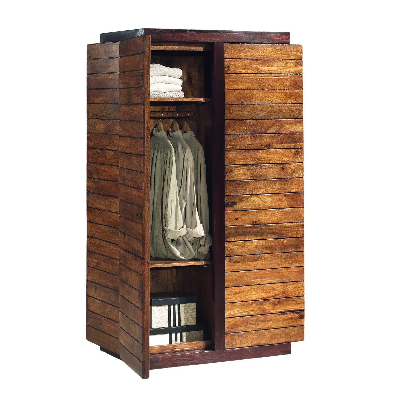 Armoire en bois bicolore de qualité