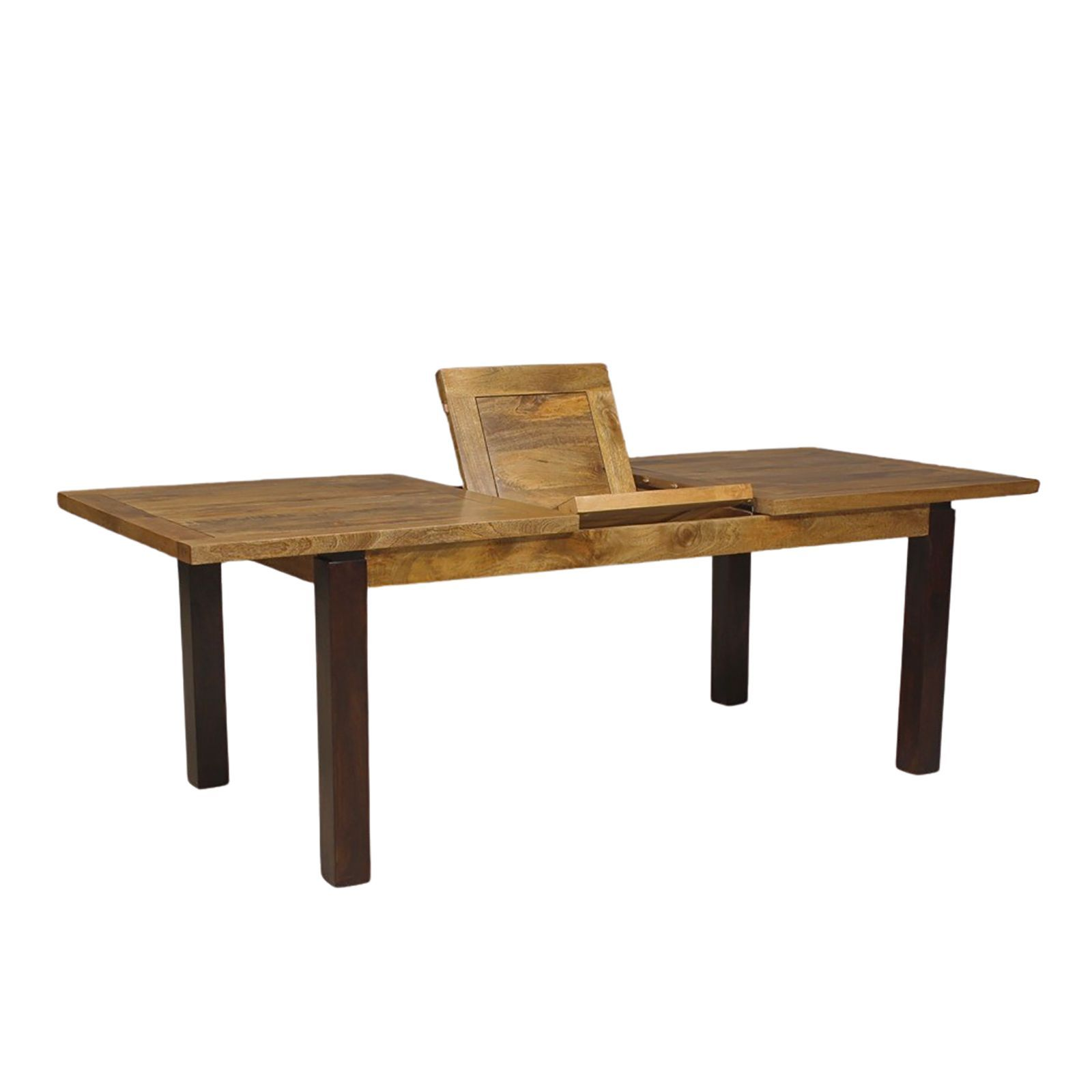 Table de séjour rectengulaire avec rallonge en bois massif