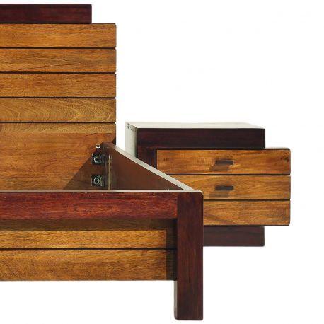 Chevet bois bicolore - débord droite | Manguier Herods
