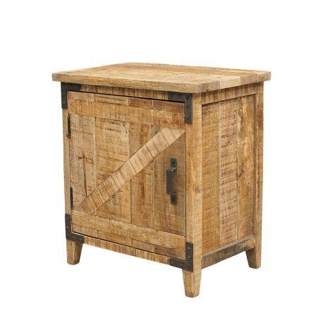 Chevet bois brut de sciage - Charnière gauche | Manguier Farm