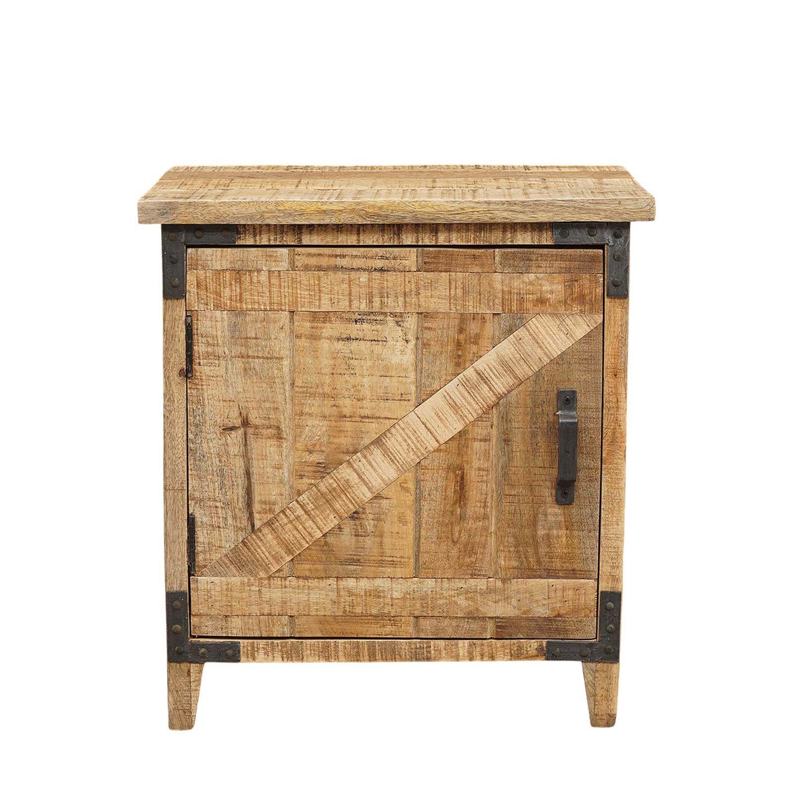 Chevet bois exotique - Charnière gauche