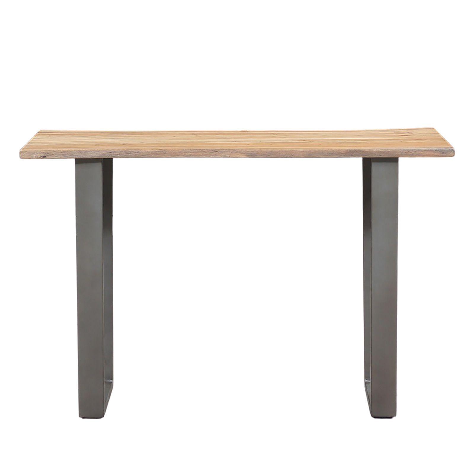 Console minimaliste bois naturel et fer