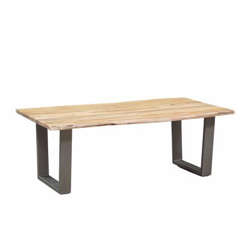 Table basse rectangulaire bois nature industriel