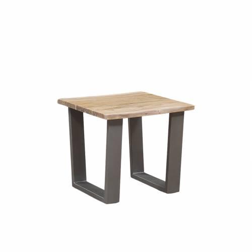 Bout de canapé bois nature industriel