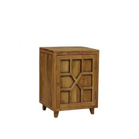 Chevet arabesque bois - Charnière droite | Acacia Punjab