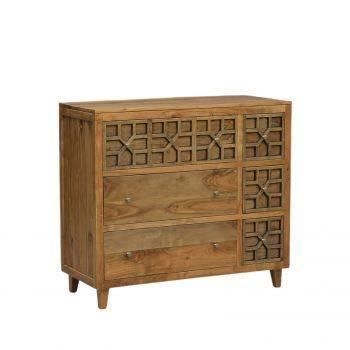 Commode arabesque bois exotique