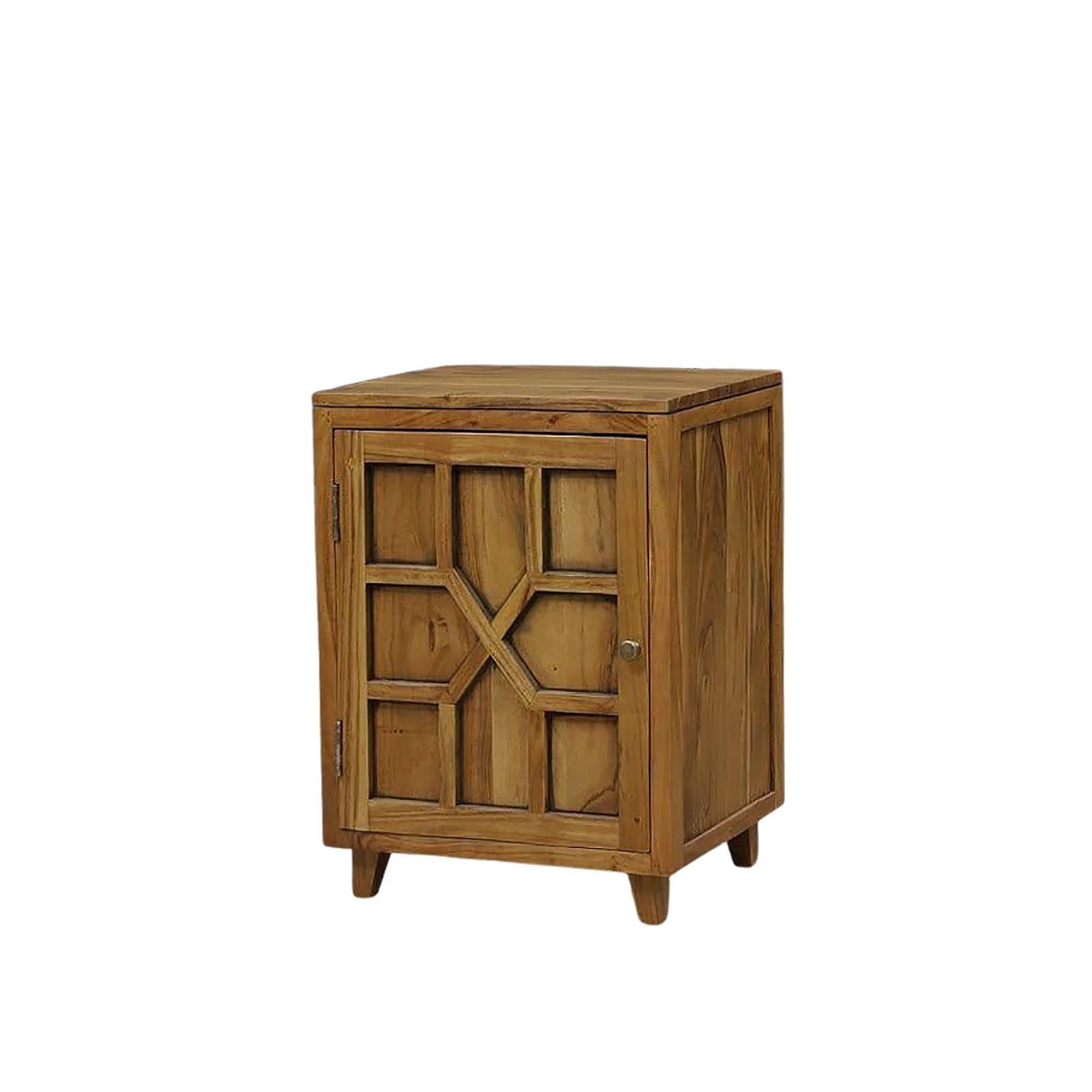 Chevet arabesque bois exotique - Ethnique chic