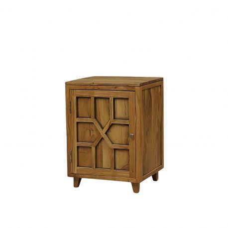 Chevet arabesque bois - Charnière gauche   Acacia Punjab